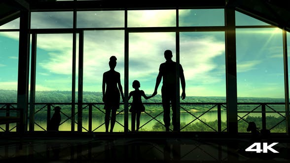 Thumbnail for Silhouettes Of A Happy Family