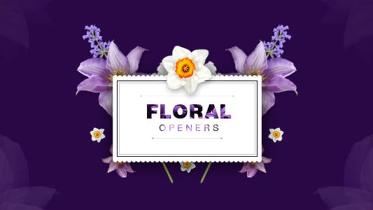 Thumbnail for Floral 8 Opening Footages/ Glamour Wedding Titles/ Flowers and Shapes/ Vintage and Hipster/ Romantic