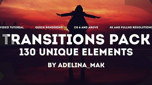 Thumbnail for Pack Transitions Colorées/Transformation Intellive/Visualisation Élégante Géométrique/Futuriste
