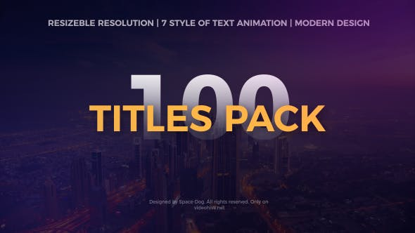 Thumbnail for Big Pack of Motion Titles | After Effects
