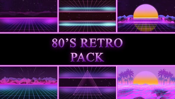 Thumbnail for 80s Retro Background Pack