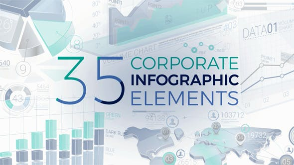 Thumbnail for 35 Corporate Infographic Elements
