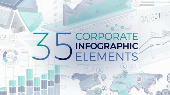 Thumbnail for 35 Корпоративный элементов инфографики