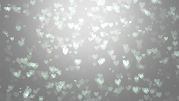 Thumbnail for Animation of White Hearts on a Gray Background