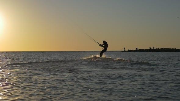 Thumbnail for Water Sport, Kitesurfing at Sunset