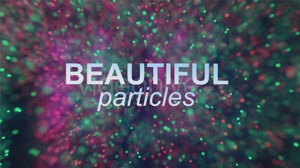 Thumbnail for Beautiful Colorful Particles Flow Background