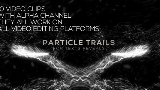 Thumbnail for Particle Trails Title Text Reveals 10 Pack