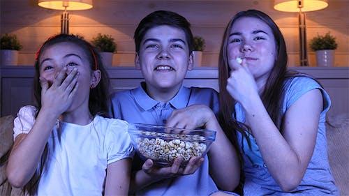 Children Watching a Comedy Film