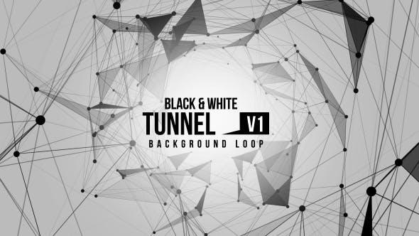 Black And White Tunnel V1