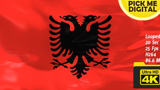 Cover Image for Albania Flag 4K