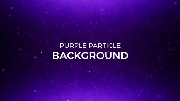 Purple Particles Background