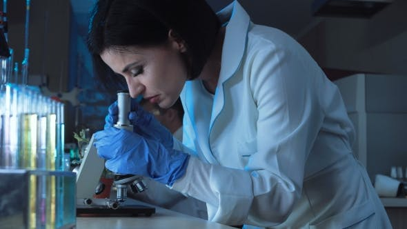 Thumbnail for Woman Working with Small Microscope