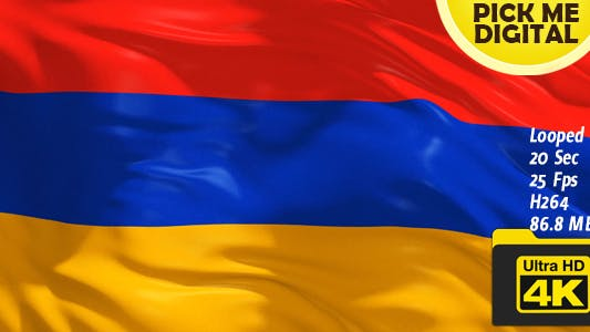 Thumbnail for Armenia Flag 4K