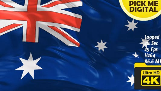 Thumbnail for Australia Flag 4K