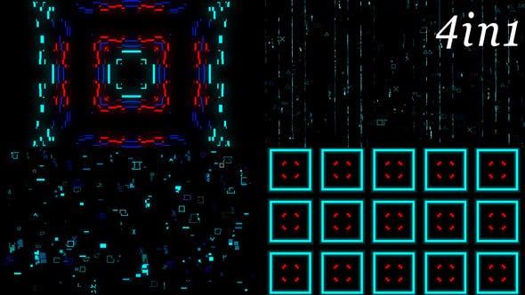 Thumbnail for Digital Matrix - VJ Loop Pack (4in1)