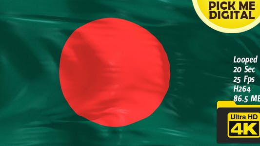 Thumbnail for Bangladesh Flag 4K