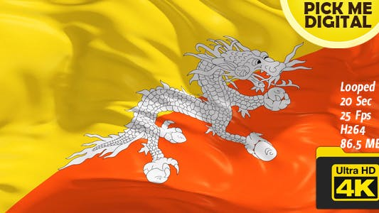 Thumbnail for Bhutan Flag 4K