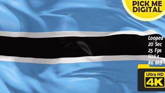 Thumbnail for Botswana Flag 4K
