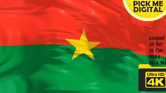 Thumbnail for Burkina Faso Flag 4K