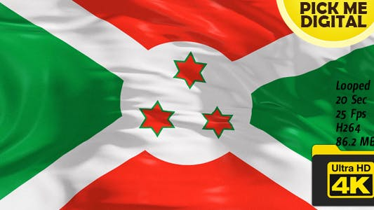 Thumbnail for Burundi Flag 4K
