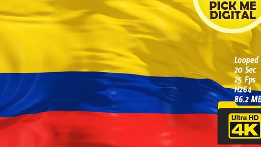 Thumbnail for Colombia Flag 4K