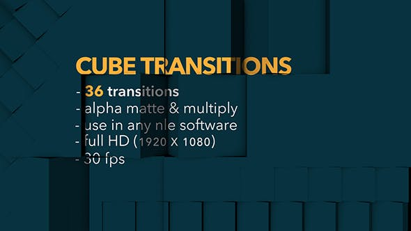 Thumbnail for Cube Transitions - 36 Pack