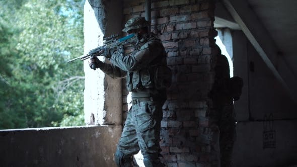 Special Forces Soldier with Gun