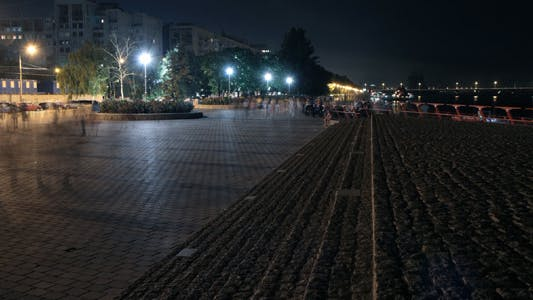 Thumbnail for Time Lapse Nighttime Streets Of The City
