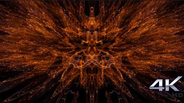 Thumbnail for Magic Orange Particles Kaleido