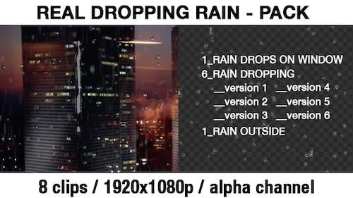 Transparent Rain Drops - Rain Dropping - Real Rain Effect