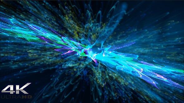Thumbnail for Unregelmäßiger Hintergrund für blaue und grüne Partikel