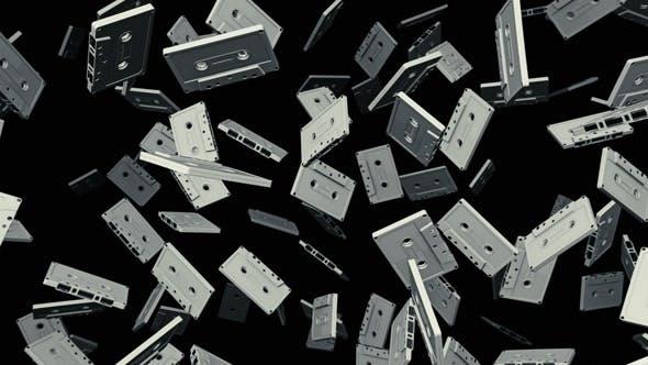 Thumbnail for Schwebende Musikbänder vor dunklem Hintergrund