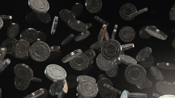Thumbnail for Floating Film Reel Cans on Dark Background