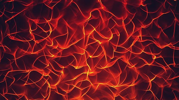 Thumbnail for Abstract Glowing Fire Waves Background