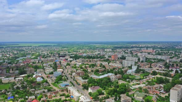 Thumbnail for Aerial View City Berdichev, Ukraine