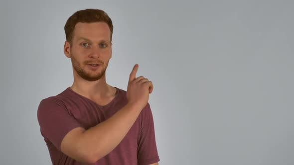 Ginger Model Showing on a Copy Space