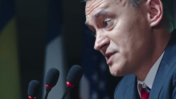 Thumbnail for Close up of Politician Speaking Aggressively