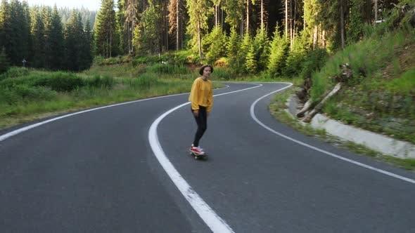Thumbnail for Teen Girl On A Skate
