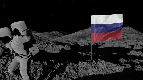 Thumbnail for Astronaut Planting Russia Flag on the Moon