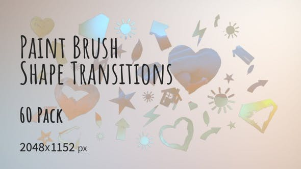 Thumbnail for 60 Paint Brush Shape Transitions 2K