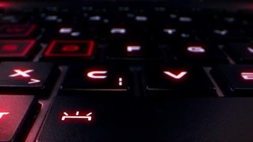 Laptop Pc Keyboard Macro View