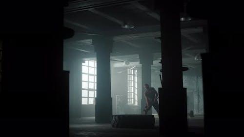 Man Training in Loft Building