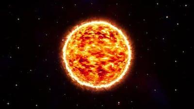 Space Sun Background Loop