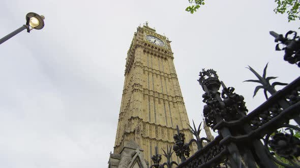 Low angle of the Big Ben