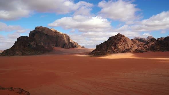 Wadi Rum Desert, Jordanien, Zeitraffer