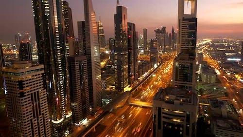 Futuristic Skyline Cityscape in Business District
