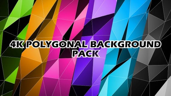 Thumbnail for 4K Low Poly Background Pack V2