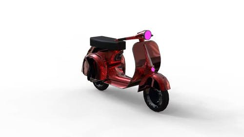 Classic design vintage scooter