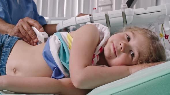 Thumbnail for Little Girl on Ultrasound of Kidneys