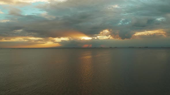 Thumbnail for Sunset Over the Sea in Manila Bay